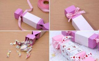 Упаковка для подарка в виде конфеты – мастер-класс