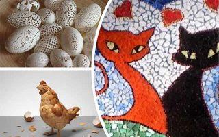 Подарок на пасху своими руками — картина из яичной скорлупы