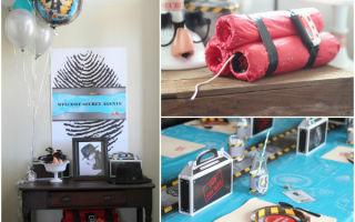 Детский сценарий дня рождения «шпионы»