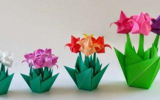 Тюльпаны из картона в вазе своими руками: мастер-класс