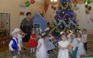 Новогодний утренник в младшей группе детского сада — сценарий нового года