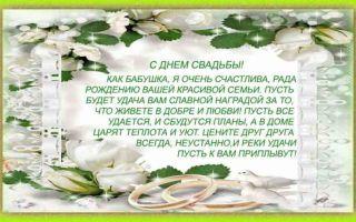 Красивые стихи-поздравления с днем свадьбы молодым от бабушек и дедушек