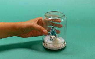 Стеклянный шар со снегом своими руками – пошаговый мастер-класс