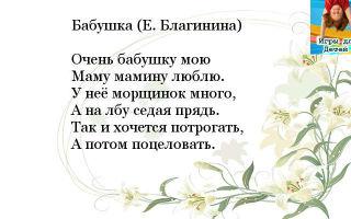 Добрые и трогательные стихи бабушке к 8 марта
