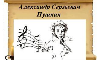 Музыкальный сценарий по литературе пушкина в школе